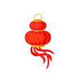 red chinese paper lantern decorative element for vector image vector image