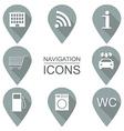 Set of navigation icons Flat design Service vector image