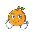 smirking orange fruit cartoon character vector image vector image