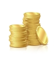 stack gold coins isolated on white background vector image