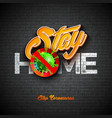 stay home stop coronavirus design with covid-19 vector image vector image