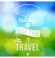 Summer holidays poster with blurry effect