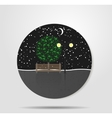 The night sky under the stars vector image