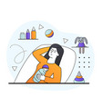 tired female character with postnatal depression vector image vector image