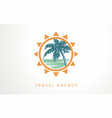 travel vacation tour logo designs vector image