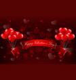 valentines day concept heart with realistic re vector image vector image