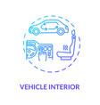 vehicle interior concept icon