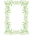 vintage frame with butterflies for your design vector image vector image