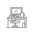 workplace line icon concept workplace vector image vector image