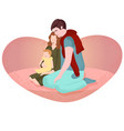 young family cuddle romantic vector image