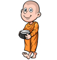 Young Monk vector image