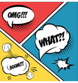 A set of comic bubbles and elements in pop artwith vector image