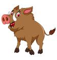 wild boar cartoon for you design vector image