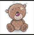 cute cartoon teddy bear on a white background vector image