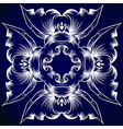 A blue and white pattern vector image vector image