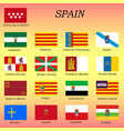 all flags spain regions vector image