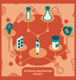 artificial insemination icon set vector image