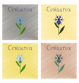 assembly flat shading style icon plant flower vector image