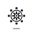 black dharma isolated icon simple element from vector image vector image