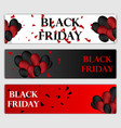 black friday sale horizontal banners set flying vector image vector image