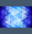 blue geometric light and shadow abstract vector image vector image