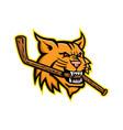 bobcat ice hockey mascot vector image vector image