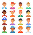 boy portrait male kids character face vector image