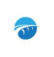 bridge icon logo template vector image vector image