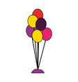bunch balloons on white background vector image