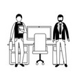 business men in the office vector image vector image
