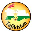 button Tajikistan vector image vector image