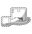 carton box icon vector image vector image