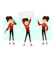 cartoon flat sport girl character big set vector image