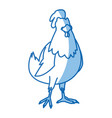 cartoon hen bird farm animal domestic image vector image vector image