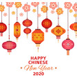 chinese new year background asian lanterns vector image