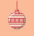 christmas ball with pattern vector image vector image