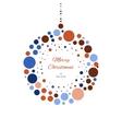 Christmas doodle ball for print web vector image vector image