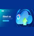 cloud computing online storage big data vector image