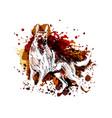 color of a german shepherd vector image