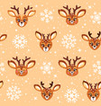 cute cartoon deer seamless vector image