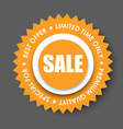 design colored stamps stickers for sale vector image vector image