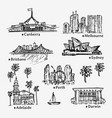 drawing australian cities sketch of city vector image