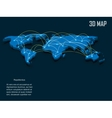 Elegant blue 3d World Map vector image vector image
