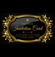 exclusive black and gold invitation card vector image vector image