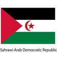 Flag of the country sahrawi arab democratic vector image vector image