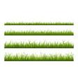 fresh green grass line flat seamless vector image