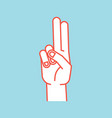 gesture stylized hand with index and middle vector image vector image