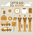 Go to work infographic vector image vector image