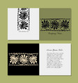 greeting card design ethnic floral ornament vector image vector image