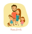Happy married couple with vector image vector image